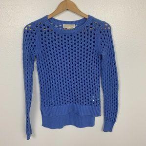 Michael Kors Sweater Crochet Blue Petite Sz: S